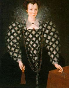 Marcus The Younger Gheeraerts - Portrait of Mary Rogers: Lady Harrington