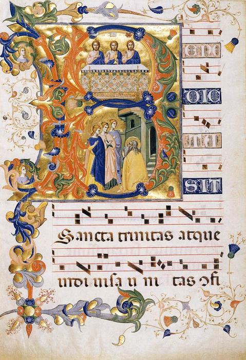 Gradual 2 for San Michele a Murano (Folio 74), Tempera by Don Silvestro Dei Gherarducci (1339-1399, Italy)