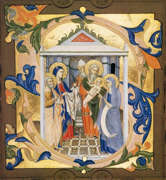 Gradual from Santa Maria degli Angeli (Folio 32v), 1370 by Don Silvestro Dei Gherarducci (1339-1399, Italy) | Art Reproduction | WahooArt.com