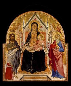 Don Silvestro Dei Gherarducci - Madonna and Child with Sts John Baptist and Paul