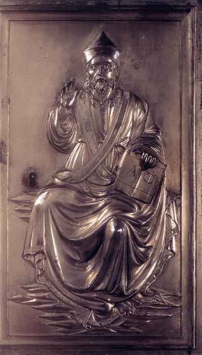 & Door of a Ciborium Bronze by Lorenzo Ghiberti (1378-1455 Italy)