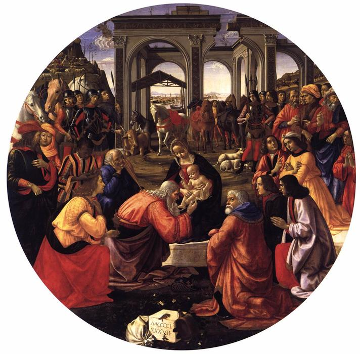 Adoration of the Magi, 1487 by Domenico Ghirlandaio (1449-1494, Italy) | Famous Paintings Reproductions | WahooArt.com
