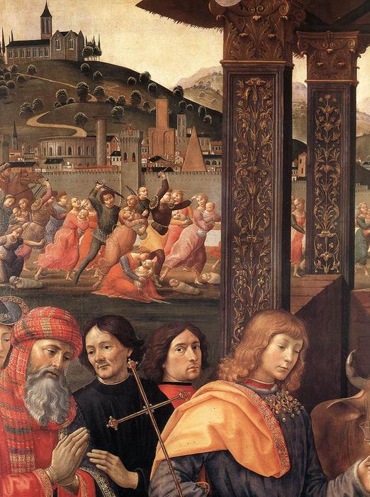 Adoration of the Magi (detail), 1488 by Domenico Ghirlandaio (1449-1494, Italy) | Famous Paintings Reproductions | WahooArt.com