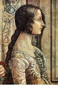 Domenico Ghirlandaio - Birth of Mary (detail)