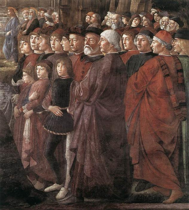 Calling of the Apostles (detail), 1481 by Domenico Ghirlandaio (1449-1494, Italy) | Oil Painting | WahooArt.com