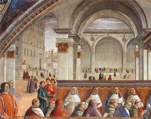Domenico Ghirlandaio - Confirmation of the Rule (detail)