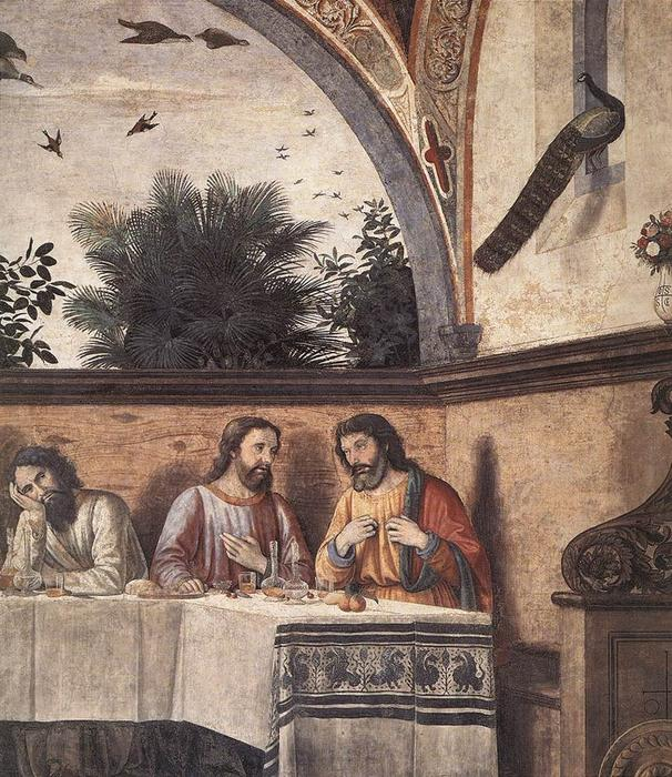 Last Supper (detail), Frescoes by Domenico Ghirlandaio (1449-1494, Italy)
