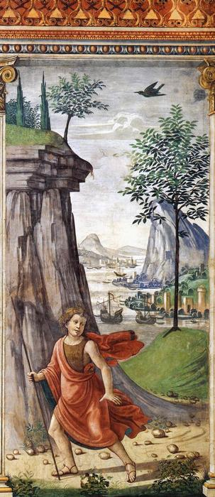 St John the Baptist in the Desert, 1486 by Domenico Ghirlandaio (1449-1494, Italy) | Painting Copy | WahooArt.com