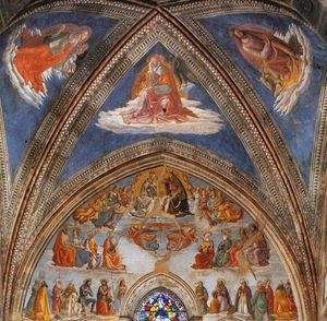 View of the Tornabuoni Chapel  (order Fine Art fine art print Domenico Ghirlandaio)