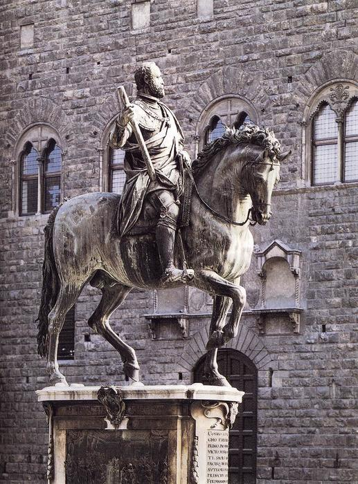 Order Oil Painting : Equestrian Portrait of Cosimo I, 1587 by Giambologna (1529-1608, France) | WahooArt.com