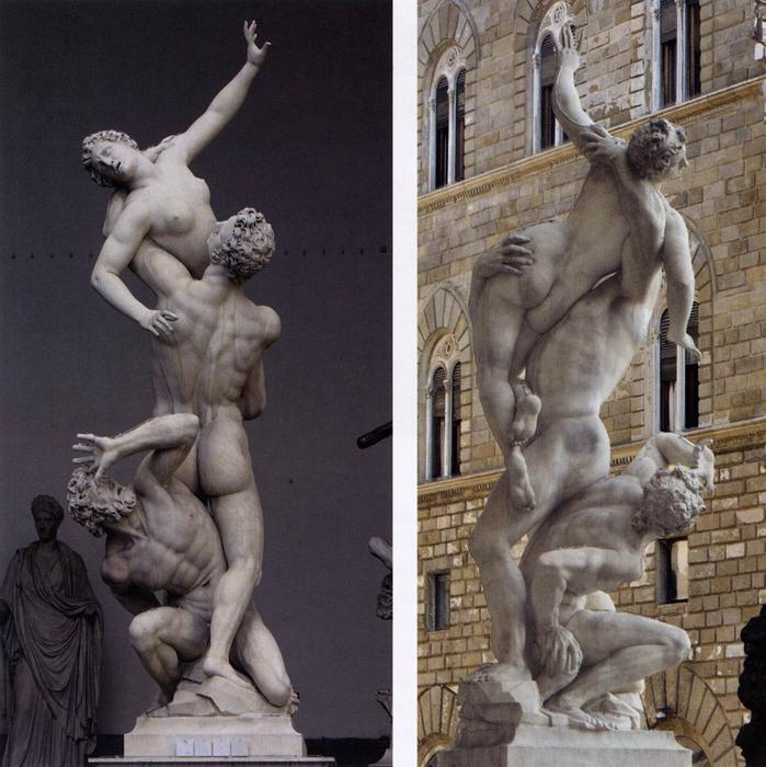 Order Museum Quality Reproductions : Rape of the Sabines, 1581 by Giambologna (1529-1608, France) | WahooArt.com