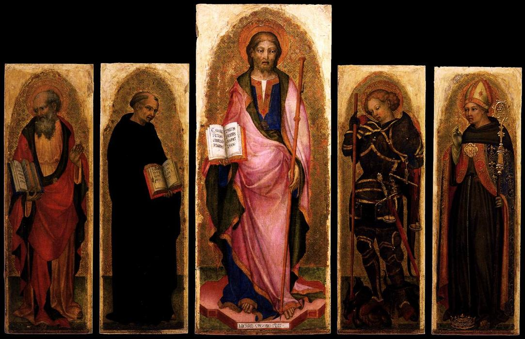 Polyptych of St James, 1450 by Michele Giambono (1400-1462, Italy) | Museum Quality Reproductions | WahooArt.com