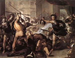 Luca Giordano - Perseus Fighting Phineus and his Companions