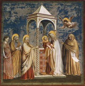 Giotto Di Bondone - No. 19 Scenes from the Life of Christ: 3. Presentation of Christ at the Temple