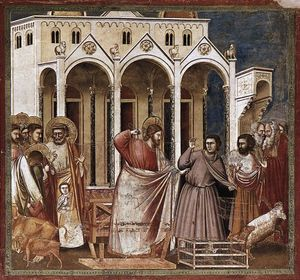 Giotto Di Bondone - No. 27 Scenes from the Life of Christ: 11. Expulsion of the Money-changers from the Temple