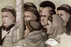 Giotto Di Bondone - Scenes from the Life of Saint Francis: 7. Vision of the Ascension of St Francis (detail)