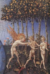 Giovanni Di Paolo - The Creation and the Expulsion from the Paradise (detail)
