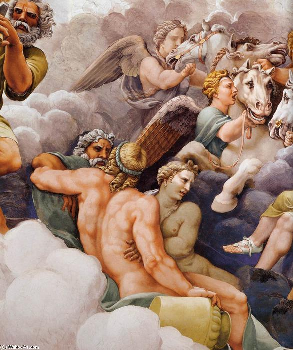 Vault: The Assembly of Gods around Jupiter's Throne (detail), Frescoes by Giulio Romano (1499-1546, Italy)