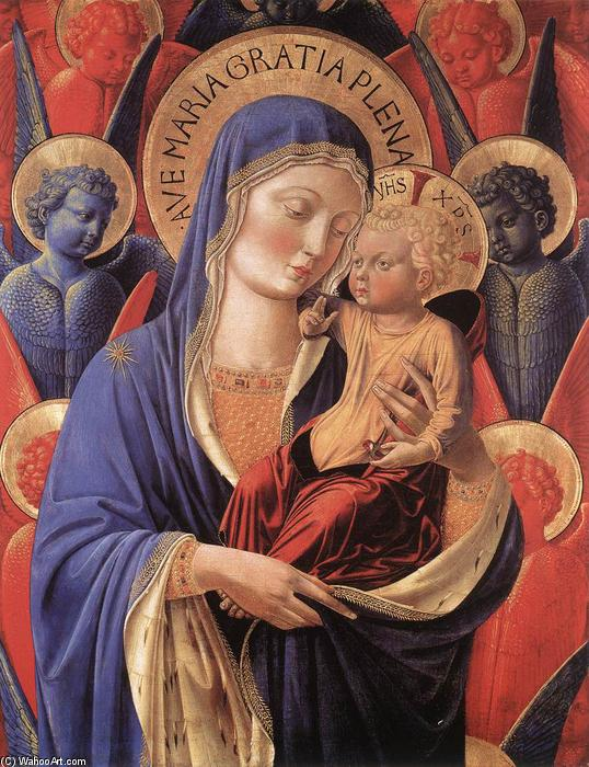 Madonna and Child, 1460 by Benozzo Gozzoli (1420-1497, Italy) | Museum Quality Reproductions | WahooArt.com