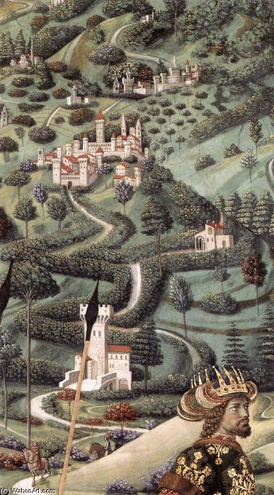 Procession of the Middle King (detail), 1459 by Benozzo Gozzoli (1420-1497, Italy) | Oil Painting | WahooArt.com