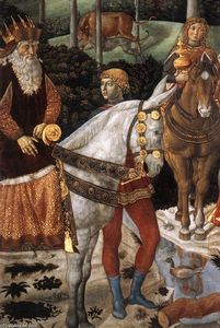 Benozzo Gozzoli - Procession of the Oldest King (detail)