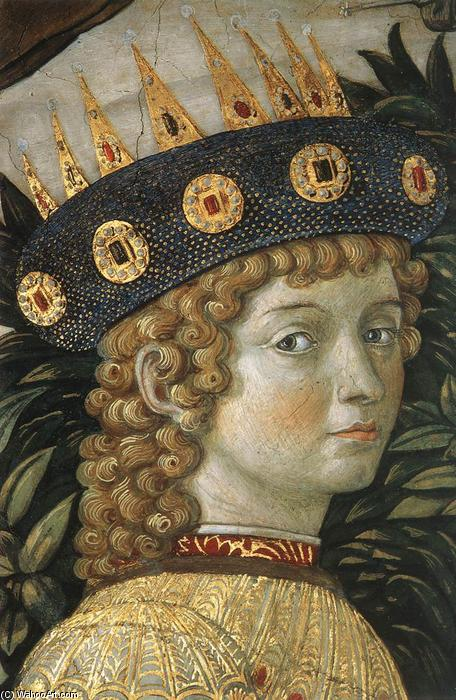 Procession of the Youngest King (detail), 1459 by Benozzo Gozzoli (1420-1497, Italy) | Painting Copy | WahooArt.com