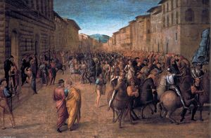Francesco Granacci - Entry of Charles VIII into Florence