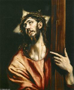 El Greco (Doménikos Theotokopoulos) - Christ Holding the Cross