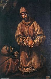 El Greco (Doménikos Theotokopoulos) - St Francis and Brother Rufus