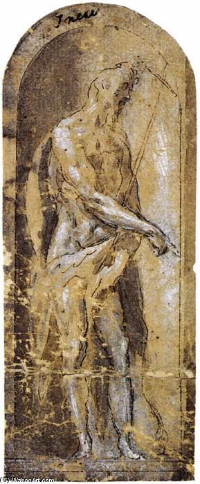 St John the Baptist, Pen by El Greco (Doménikos Theotokopoulos) (1541-1614, Greece)