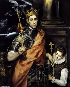 El Greco (Doménikos Theotokopoulos) - St Louis, King of France, with a Page