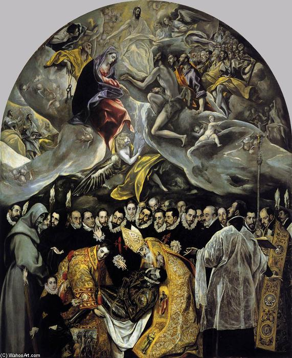 The Burial of the Count of Orgaz, Oil On Canvas by El Greco (Doménikos Theotokopoulos) (1541-1614, Greece)