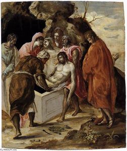 El Greco (Doménikos Theotokopoulos) - The Entombment of Christ