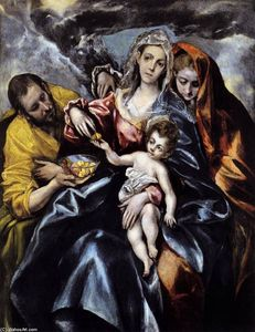 El Greco (Doménikos Theotokopoulos) - The Holy Family with St Mary Magdalen