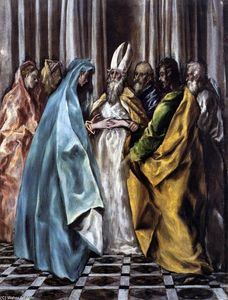 El Greco (Doménikos Theotokopoulos) - The Marriage of the Virgin