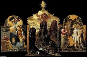 El Greco (Doménikos Theotokopoulos) - The Modena Triptych (back panels)