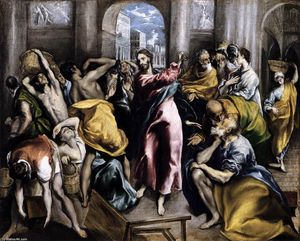 El Greco (Doménikos Theotokopoulos) - The Purification of the Temple