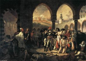 Baron Antoine Jean Gros - Napoleon Bonaparte Visiting the Plague-stricken at Jaffa
