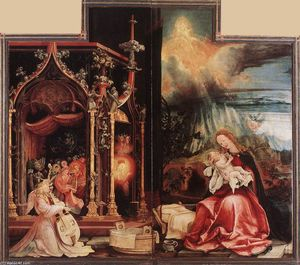 Matthias Grünewald - Concert of Angels and Nativity