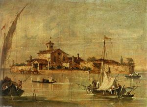 Giacomo Guardi - Landscape in the Environs of Venice