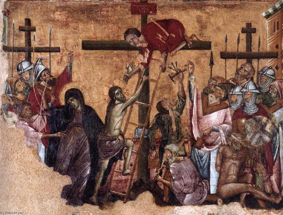 Christ Crucified, 1270 by Guido Da Siena (1230-1290, Italy) | Oil Painting | WahooArt.com
