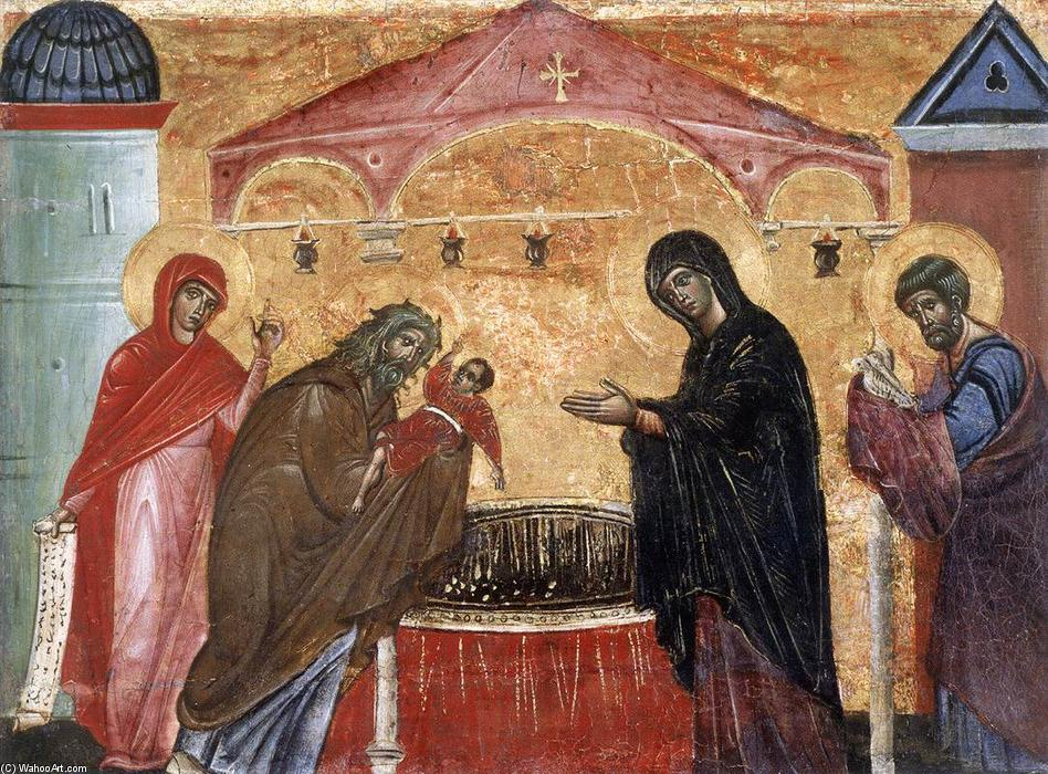 Presentation of Jesus at the Temple, 1270 by Guido Da Siena (1230-1290, Italy) | Museum Art Reproductions Guido Da Siena | WahooArt.com