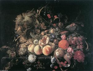 Cornelis De Heem - Still-Life with Flowers and Fruit