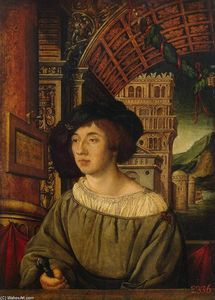 Ambrosius Holbein - Portrait of a Young Man