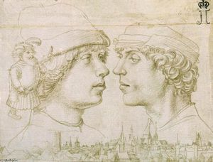 Hans The Elder Holbein - Portrait of the Artist-s Sons