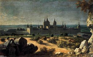 Michel Ange Houasse - View of the Monastery of El Escorial