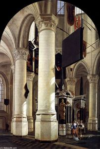 Gerard Houckgeest - Interior of the Nieuwe Kerk, Delft, with the Tomb of William the Silent