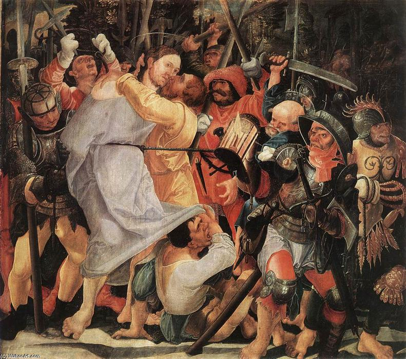 The Capture of Christ by Wolf Huber (1490-1553, Austria) | Museum Quality Reproductions | WahooArt.com