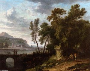 Jan Van Huysum - Landscape with Ruin and Bridge