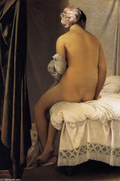 The Bather, 1808 by Jean Auguste Dominique Ingres (1780-1867, France) | Museum Quality Reproductions | WahooArt.com